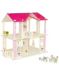 Kit Casa delle bambole-Mobili + Accessori