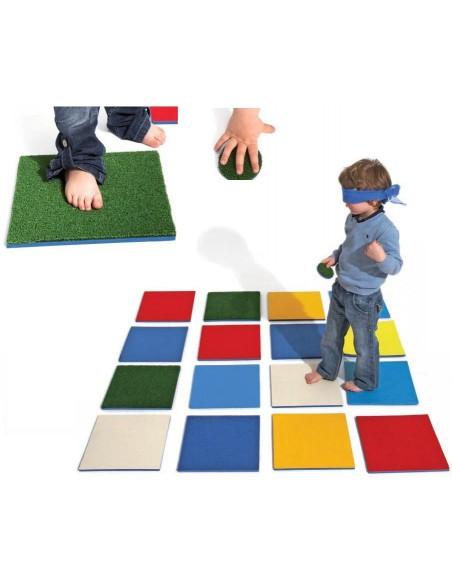Tappetini tattili per percorsi sensoriali
