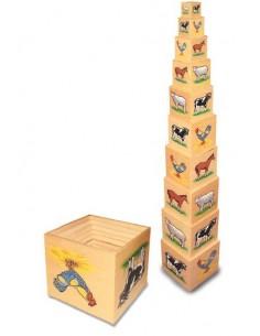 """Cubi in legno """"La fattoria"""""""
