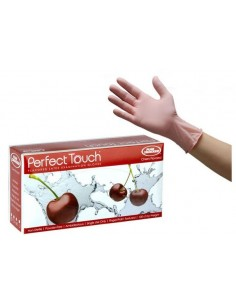 Guanti in lattice Ciliegia Perfect Touch® aromatizzati alla ciliegia leggermente taccati 10pz.