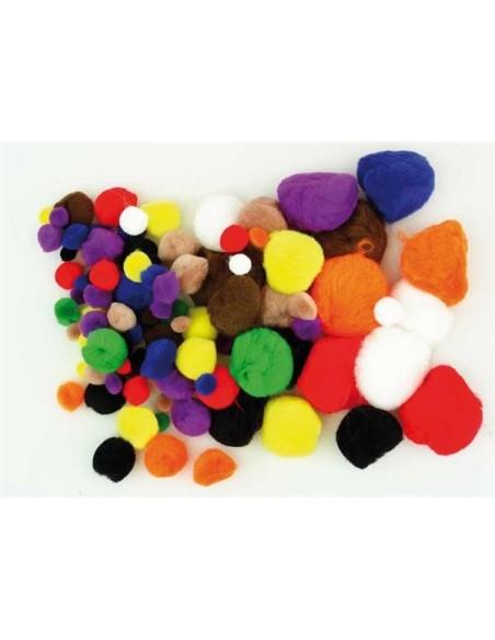 Pompons colori assortiti 40pz.