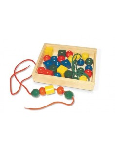 Set perle in legno
