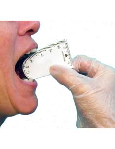 Scala graduata per la misurazione dell'apertura della bocca