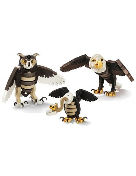 BlocoToys Uccelli - animali da assemblare in EVA