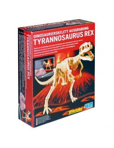 Scava e scopri - Tyrannosaurus rex-mamut-Triceratopo-velociraptor 4m