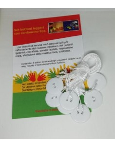 Set bottoni leggeri con cordoncino 8pz. Adulti