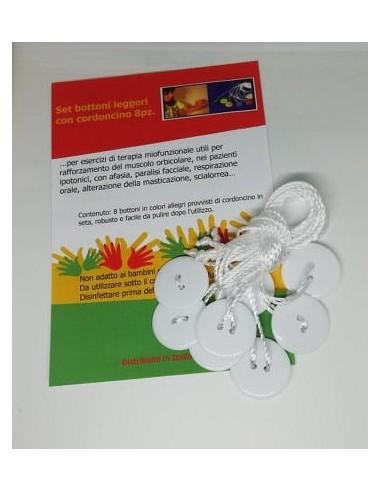 Set bottoni leggeri con cordoncino-terapia miofunzionale
