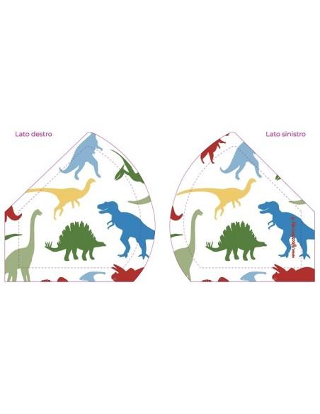 Mascherina Bambini Dinosauri Lavabile