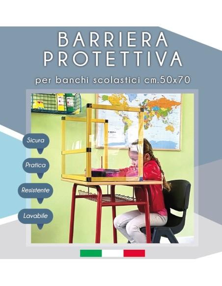 Barriera protettiva banco scolastico