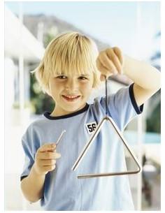 Triangolo in acciaio cromato e battente