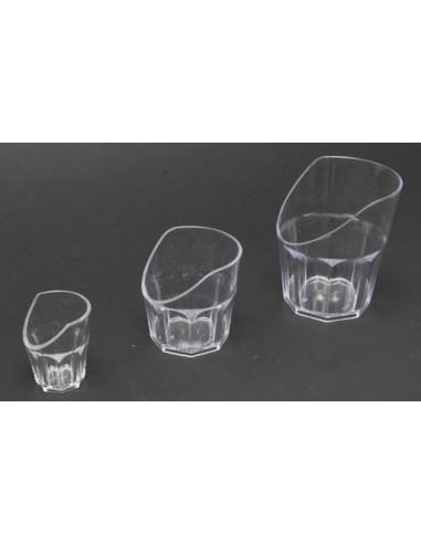 Bicchiere con incavo trasparente grande
